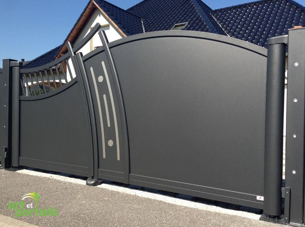 portail original, design, en aluminium