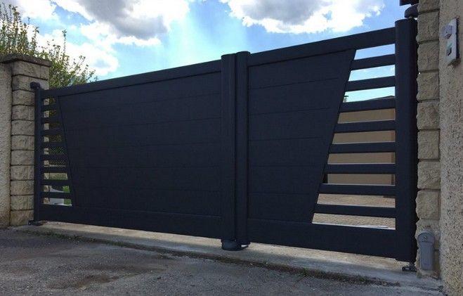 portail battant, noir, design