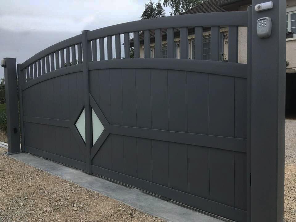 portail en aluminium, design Vision